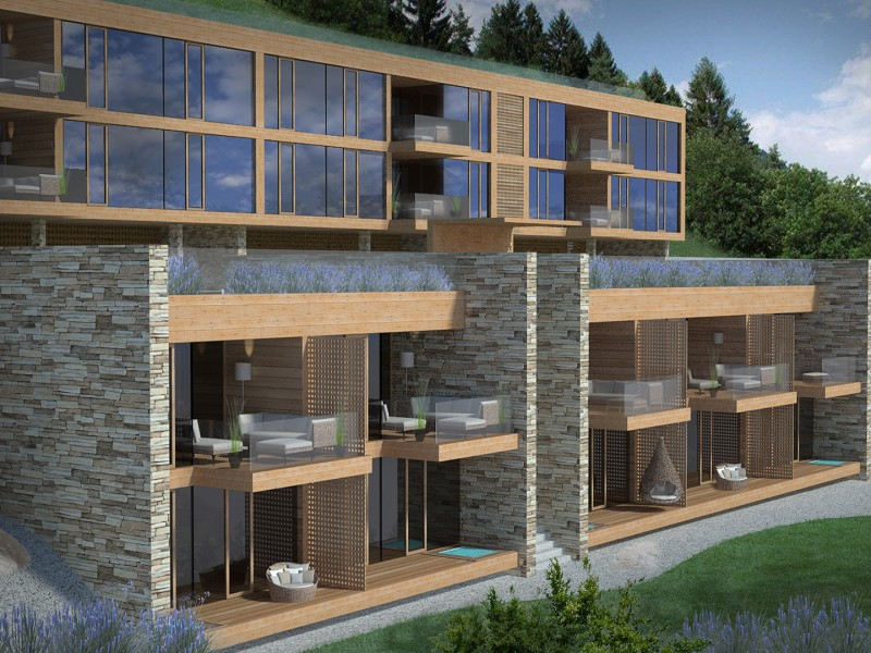 Visualisierung Wohnbau 'Sunseitn'
